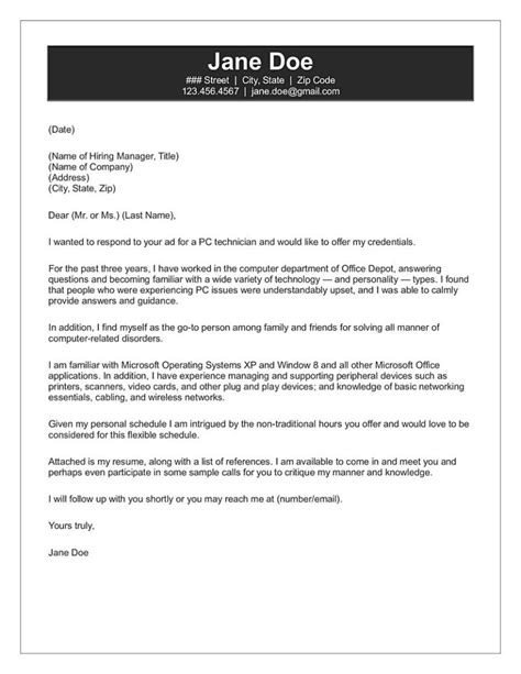 Sample Cover Letter For Resume Computer Technician Computer Technician Sample Resume Cvtips