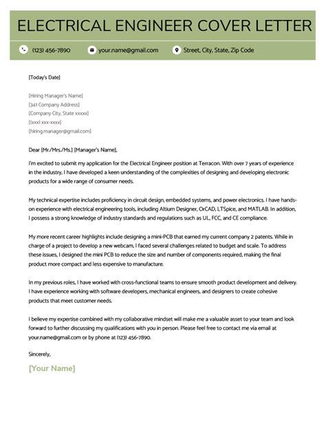 Sample Cover Letter For Vlsi Internship Impressive Sample Electrical Enginneering Cover Letter 3