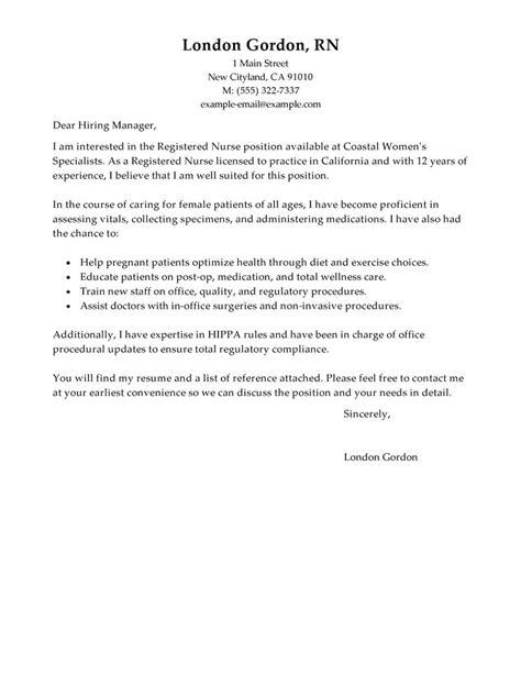 example of cover letter for nursing jobs