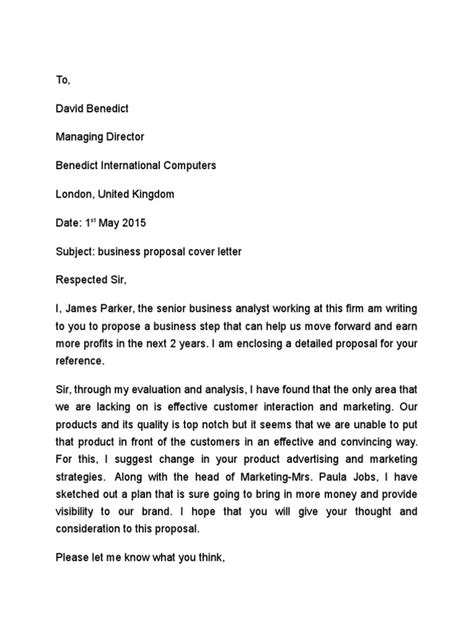 sample cover letter for bid proposal sample proposal cover letter free sample letters