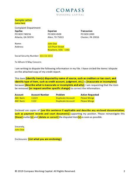 credit card dispute form letter sample credit report dispute letter of explanation