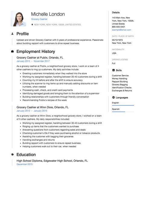 Sample Curriculum Vitae Cashier Cashier Cv Resume Example Format Resume Now