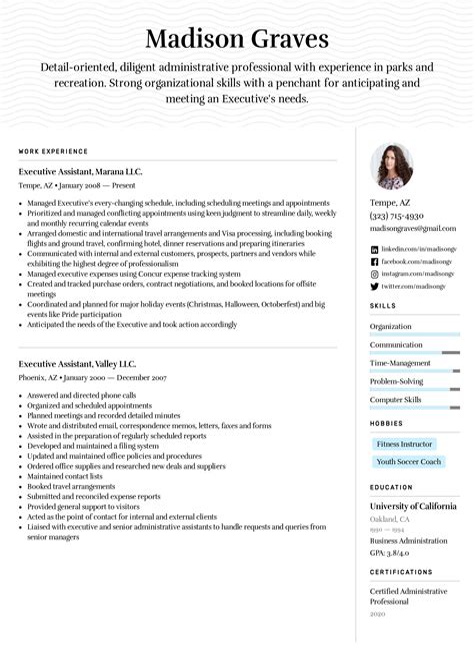 sample curriculum vitae executive secretary executive secretary cv sample executive secretary cv