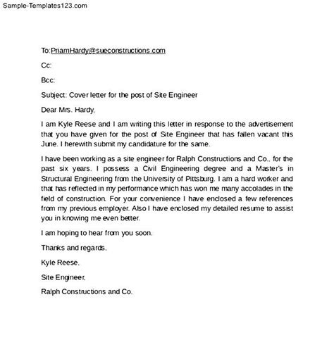 Sample Email To Send Resume Cover Letter For Resume With Sample Cover Letter Format