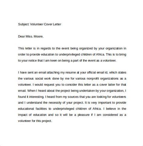sample reference letter volunteer work sample email cover letter for a volunteer position sample cover letter for volunteer work