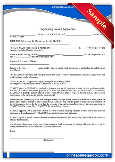 Sample Engineering Contract Sample Contract Agreement 50 Free Documents Download In