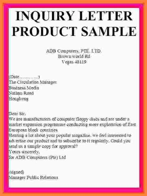 Enquiry letters sample letter t logo enquiry letters sample sample enquiry letter for product pricing thecheapjerseys Images