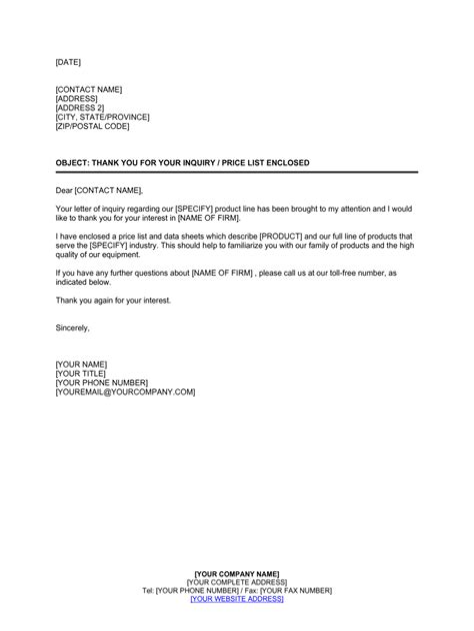 Enquiry letters sample letter t logo enquiry letters sample sample enquiry letter for product pricing altavistaventures Image collections