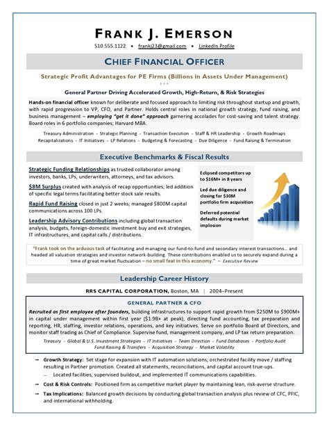 old version old version. 20 cfo resume examples sample resumes ... - Cfo Resume Examples