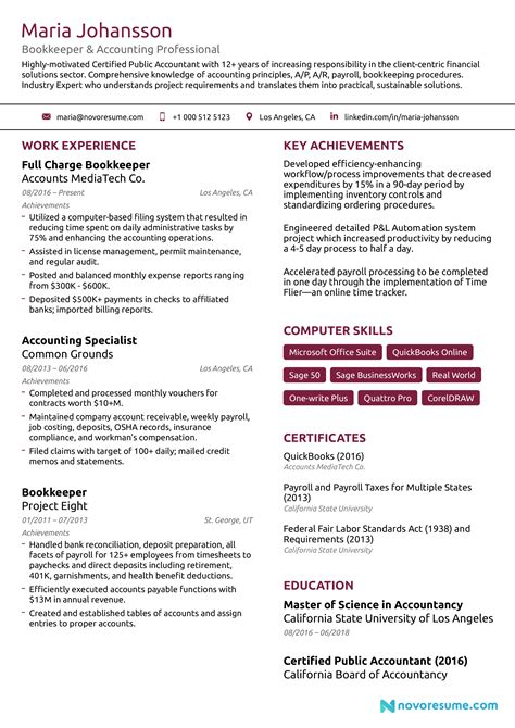 sample functional resume for bookkeeper bookkeeper resume sample functional resume samples - Bookkeeper Resume Sample