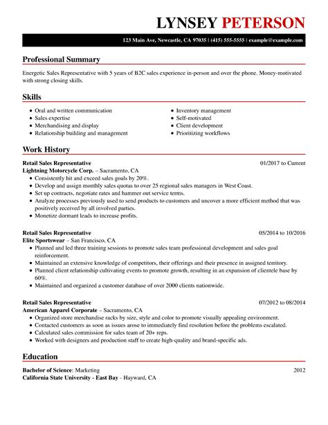 sample good sales resume | accounting resume doc - Good Sales Resume Examples