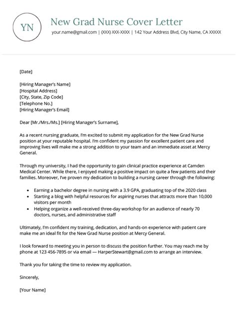 sample graduate nurse resume and cover letter registered nurse cover letter sample and writing guidelines - Sample Cover Letter For Nursing Resume