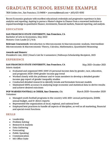 resume sample for grad school sample graduate school resume l s h - Sample Graduate School Resume