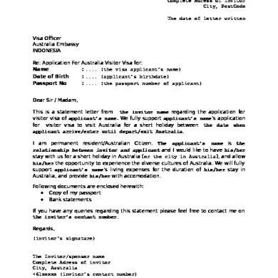 Sample invitation letter for visit visa uae resume template for sample invitation letter for visit visa uae visa information australia tourist visa requirementsfor stopboris Image collections
