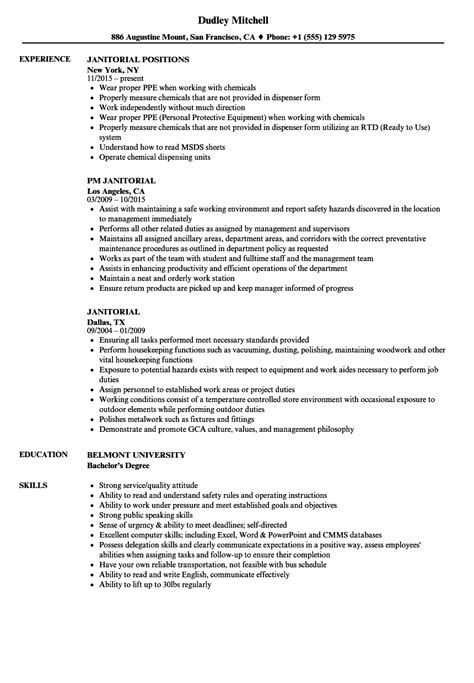 resume example janitor   wait staff description resumeresume example janitor sample janitorial resume janitor janitors cleaning