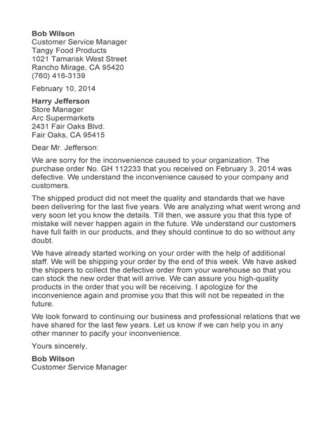 Sample Letter Apology Apology Letter