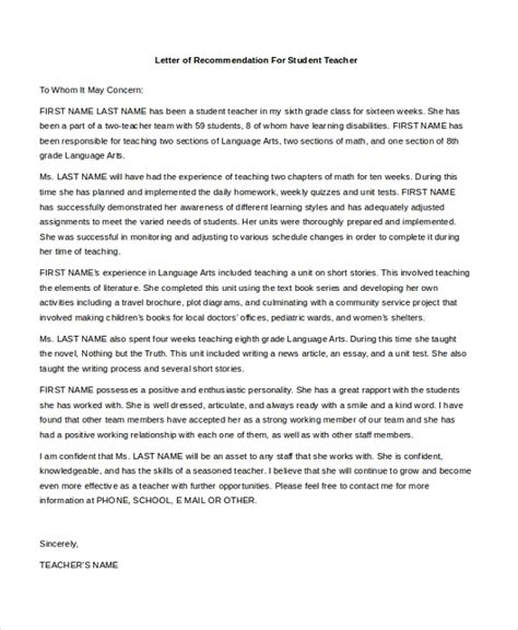 sample recommendation letter high school student sample letter of recommendation for student teachers nmu - Cover Letters For High School Students With No Experience