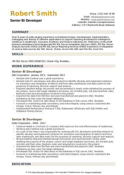 cover letter sample java developer sample ms bi developer resume with appropriate skills
