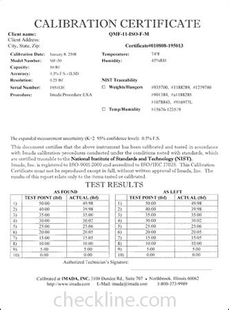Blank calibration certificate template blank calibration certificate template sample nist traceable calibration certificates nist cal yadclub Gallery
