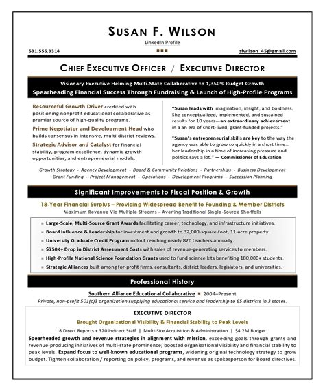 sample nonprofit executive resumes sample cfo resume example of executive resume trends 2015 sample cfo