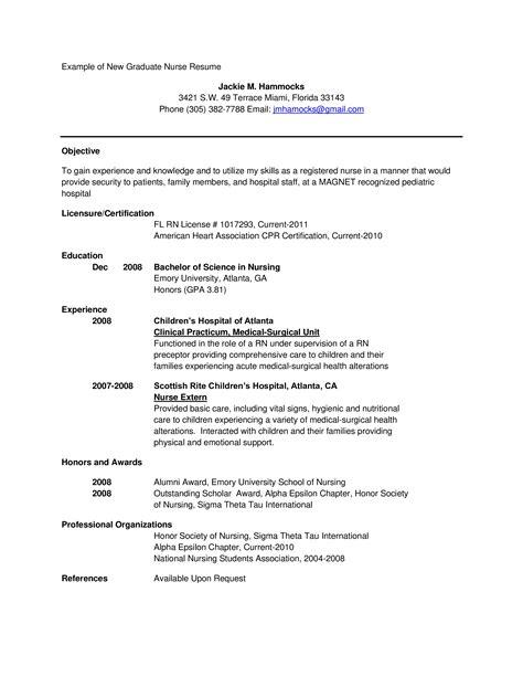 sample nurse resume new grad graduate nurse resume samples best sample resume - New Graduate Rn Resume