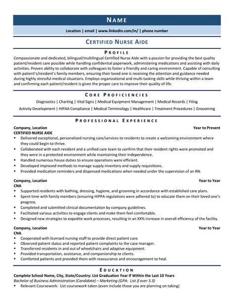 nursing administrator resume