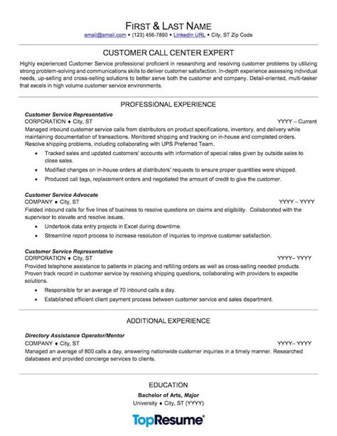 sample of resume for customer service at a call center customer service call center resume sample - Customer Service Call Center Resume
