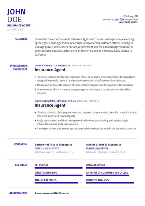 Sample Of Physician Cv Sample Insurance Cv Cv Formats Templates