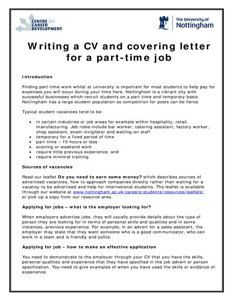 Letter Of Application Part Time Job | Form Release Agent Concrete