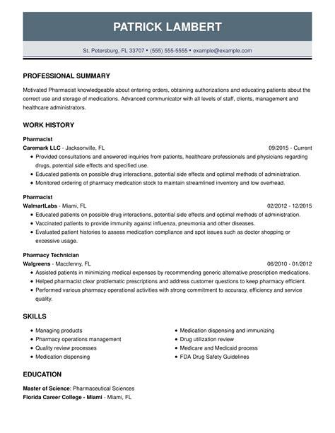 sample pharmacist resume australia pharmacist resume best sample resume