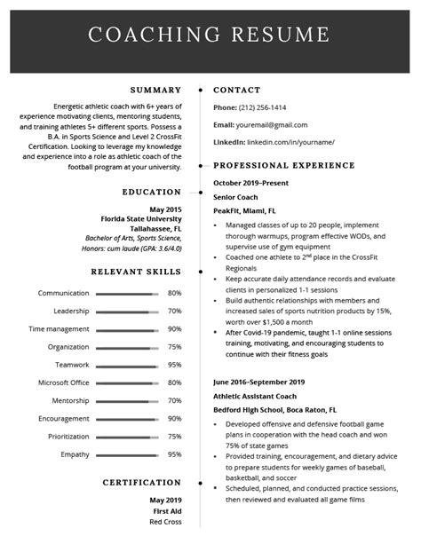 sample professional dance resume coach resume example sample - Professional Dance Resume
