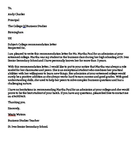Sample Recommendation Letter For Employment Nurses Sample Recommendation Letters For Employment 12