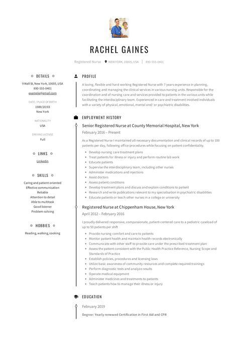 Sample Registered Nurse Resume Nurse Resume Example Professional Rn Resume