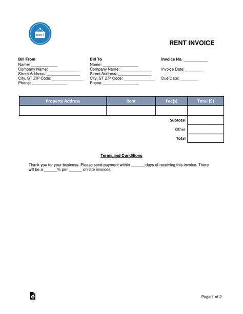 sample rent invoice | timesheet tracking template, Invoice templates