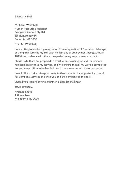 Physician Resignation Letter Sample   Resume CV Cover Letter