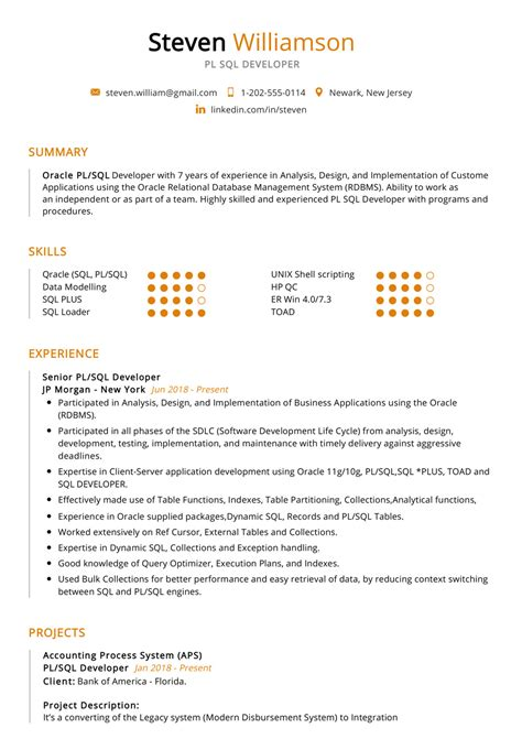 sample resume for java developer 2 year experience 2 oracle plsql developer resume samples examples download