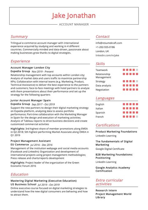 Sample Resume Sales Account Manager Account Manager Resume Sample Best Sample Resume