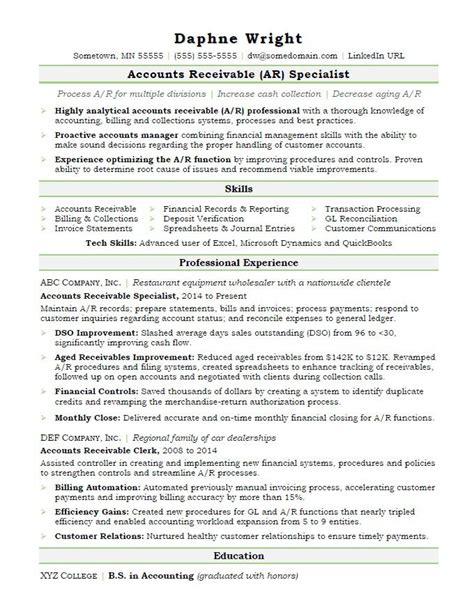 accounts receivable sample resume captivating sample resume