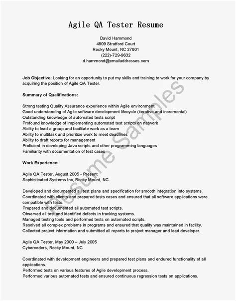 qa resume