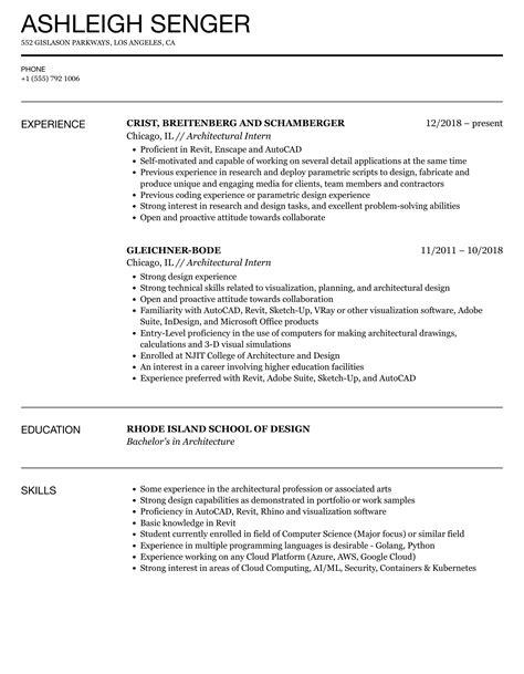 sample resume architecture internship resume ixiplay free resume