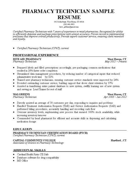 sample resume objective for pharmacist best pharmacy technician resume example livecareer