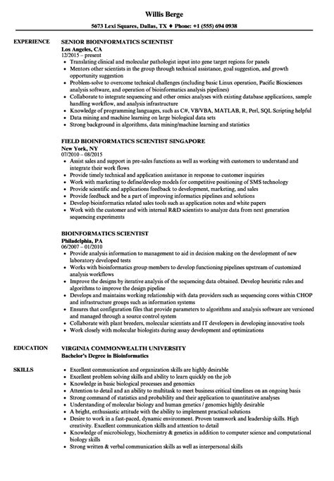 sample resume bioinformatics student resume ixiplay free resume
