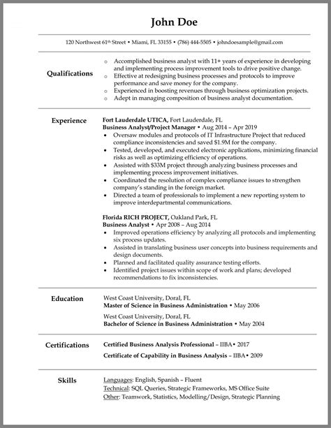 sample resume objective business analyst sample resume business analyst resume it exforsys - Sample Resume For Business Analyst