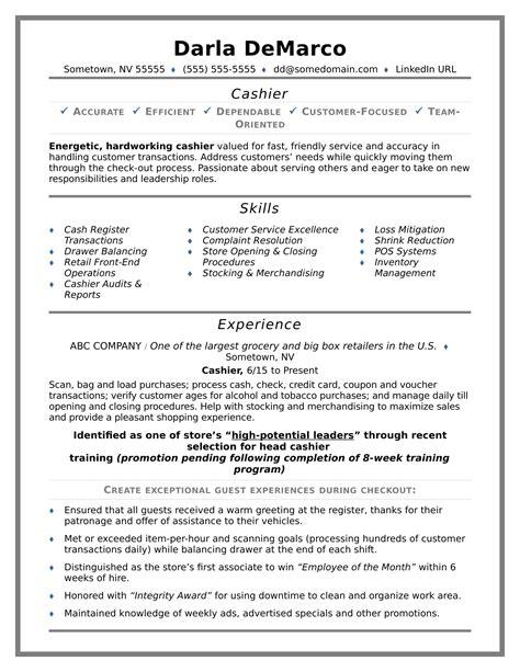 Sample Resume Skills For Cashier Cashier Resume Skills Best Sample Resume
