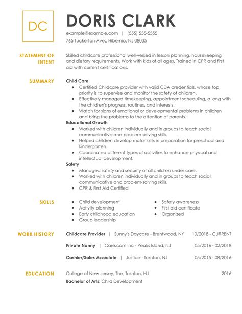 sample resume daycare assistant example resume sample resume for child care worker cover letter care assistant - Child Care Worker Resume Template