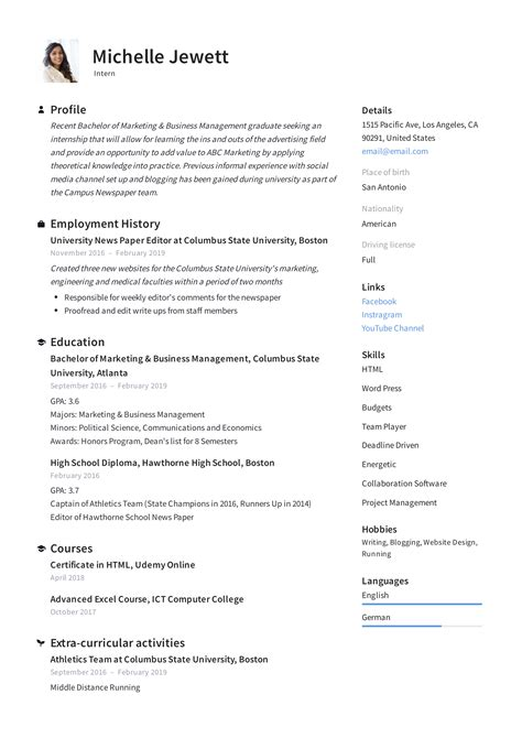 sample resume of college freshmen sample resume college student work or internship