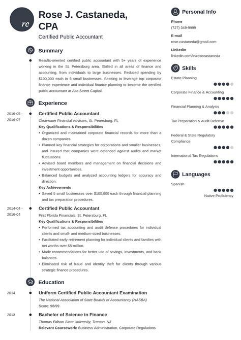 Sample Resume For Experienced Cpa Cpa Resume Sample Writing Guide Resume Genius