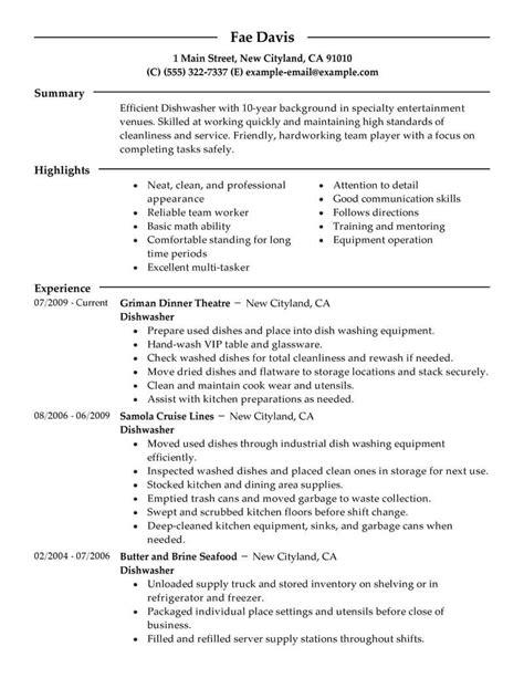 sample dishwasher resume dishwasher resume 22 college dishwasher