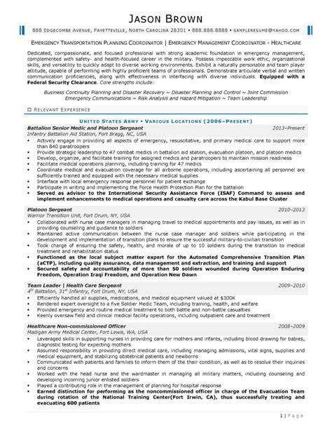 Sample Resume Disaster Management Emergency Management Consultant Resume Example