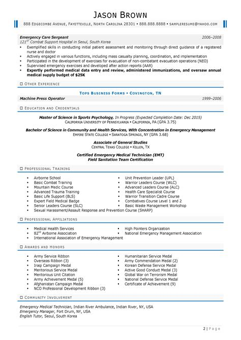 Sample Resume Disaster Management Emergency Management Resume Sample Resume My Career